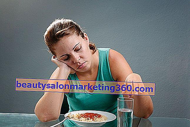 simptomele oboseale și pierderea apetitului